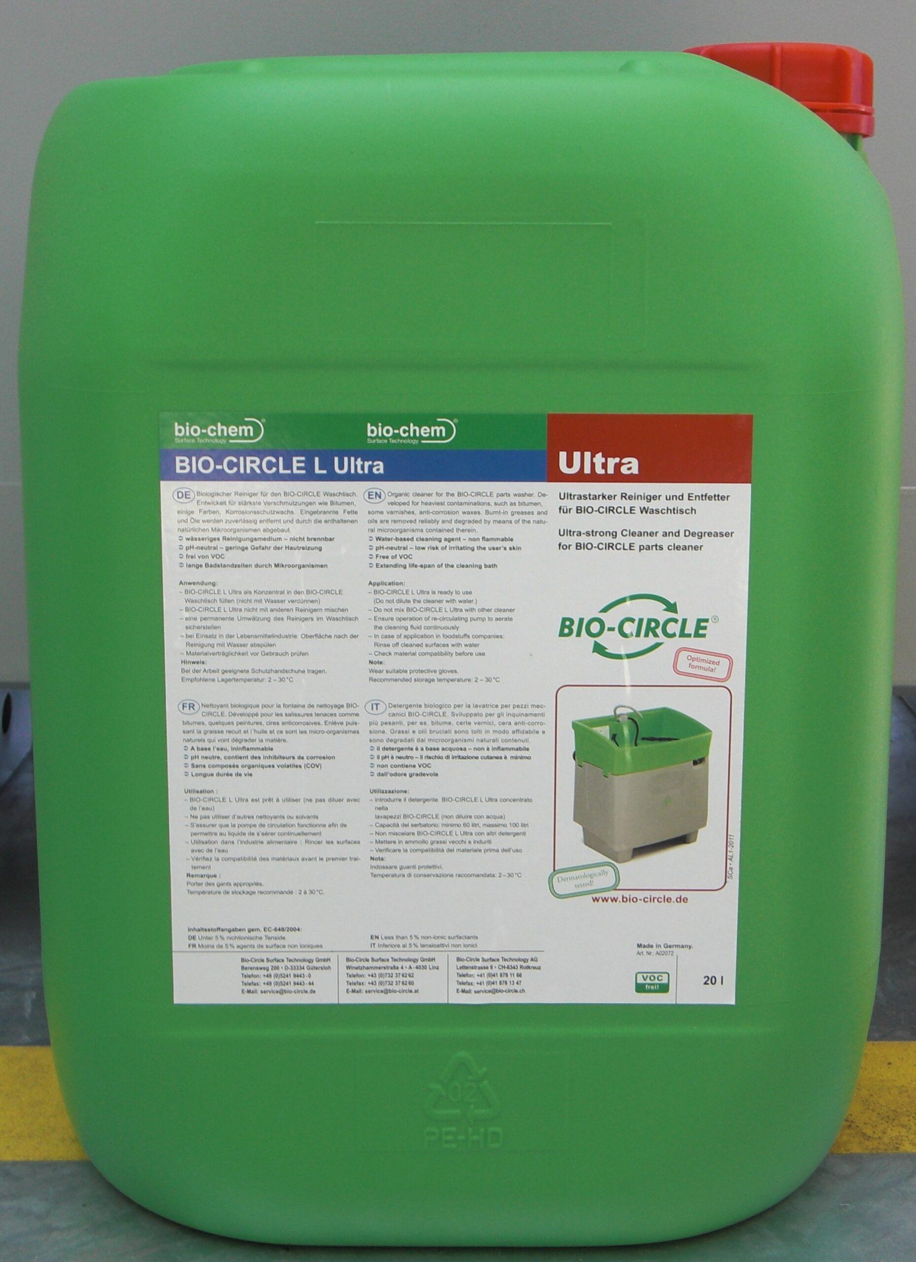 BC Kanister ultra_Bio-Circle reinigingsmiddel