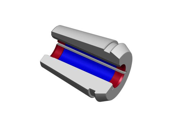 Diebold TER (ThermoGrip™-ER) dwarsdoorsnede