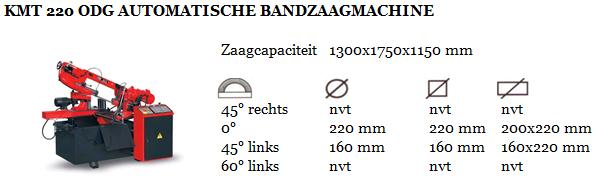 KMT 220 ODG AUTOMATISCHE BANDZAAGMACHINE