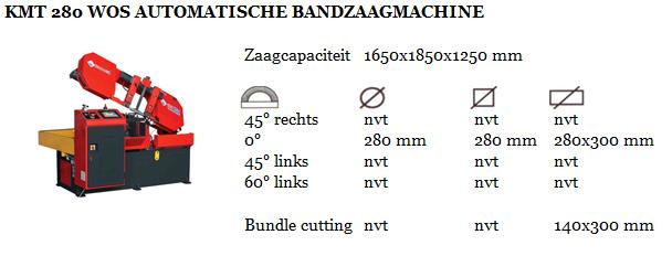KMT 280 WOS AUTOMATISCHE BANDZAAGMACHINE