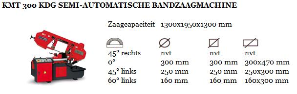 KMT 300 KDG SEMI-AUTOMATISCHE BANDZAAGMACHINE