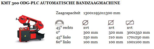 KMT 300 ODG-PLC AUTOMATISCHE BANDZAAGMACHINE