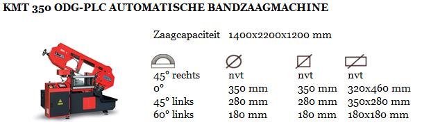 KMT 350 ODG-PLC AUTOMATISCHE BANDZAAGMACHINE