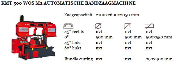 KMT 500 WOS M2 AUTOMATISCHE BANDZAAGMACHINE