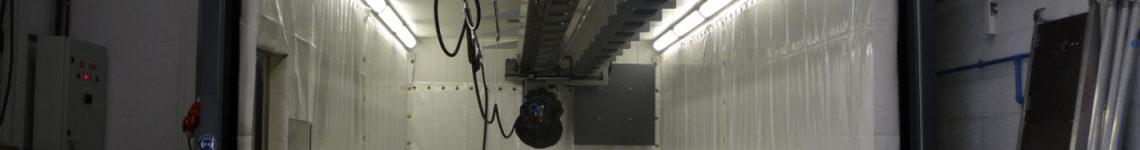 Normfinish straalhal met robot