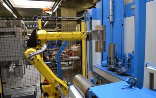 Normfinish straalinstallatie met robot